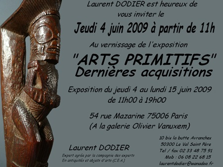 Arts Primitifs 2009 - Galerie Laurent Dodier - Art Tribal