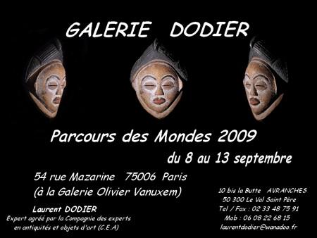 Parcours des Mondes 2009 - Galerie Laurent Dodier - Art Tribal