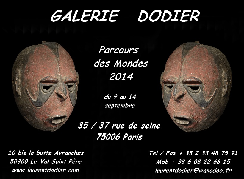 Parcours des Mondes 2014 - Galerie Laurent Dodier - Art Tribal