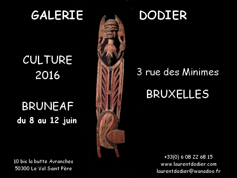 Culture 2016 Bruxelles - Galerie Laurent Dodier - Art Tribal