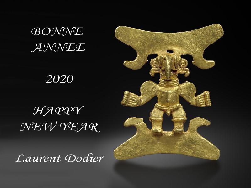 Vœux 2020 - Galerie Laurent Dodier - Art Tribal