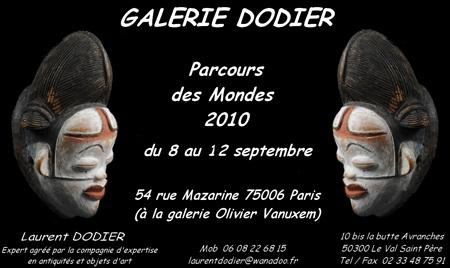 Parcours des Mondes 2010 - Galerie Laurent Dodier - Art Tribal
