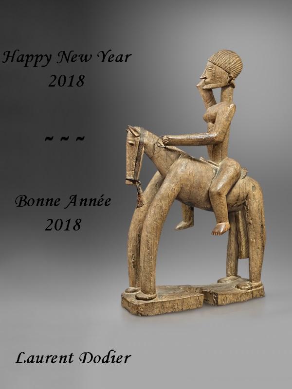 Vœux 2018 - Galerie Laurent Dodier - Art Tribal