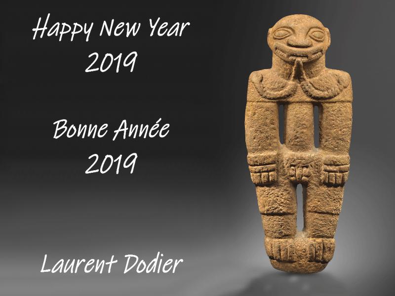 Vœux 2019 - Galerie Laurent Dodier - Art Tribal